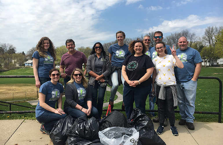 HA team members clean up Patterson Park